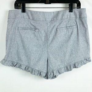LOFT Ruffled Shorts Blue Size 8